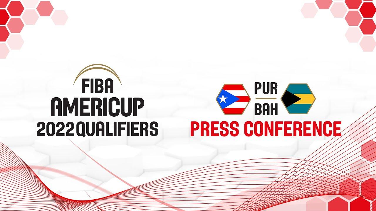 Puerto Rico v Bahamas - Press Conference - FIBA AmeriCup Qualifiers 2022