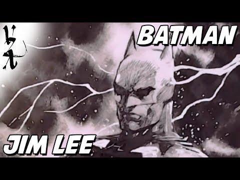 Jim Lee drawing Batman Arkham Origins