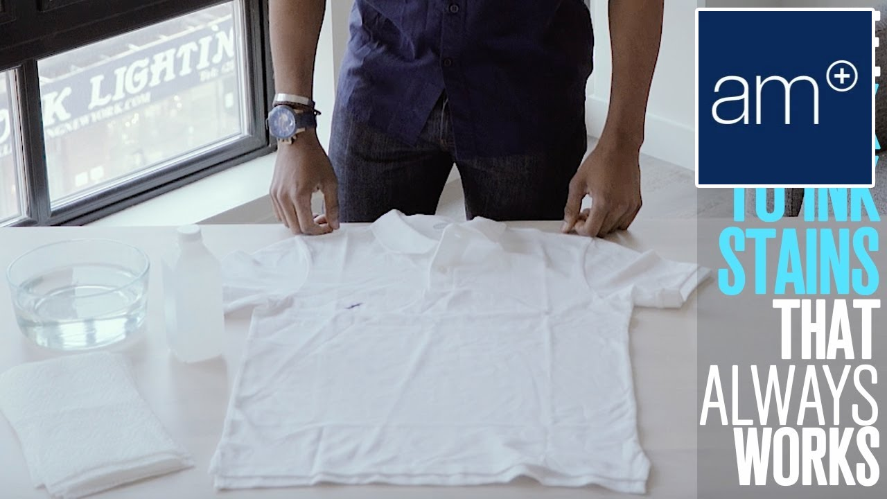 How To Get Rid of Ink Stains On Your Shirt | Basics #Cotton