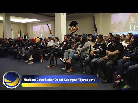NasDem Gelar Nobar Keempat Debat Pilpres 2019