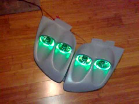 Mitsubishi gto 3000gt Quad Static halo headlights conversion kit! FOR SALE!! vr4 - YouTube