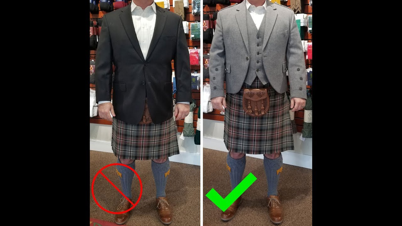 Can You Wear a Regular Suit Jacket with a Kilt? - YouTube