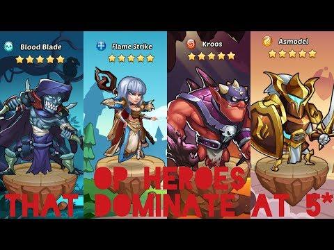 BEST HEROES AT 5 STARS!!! - Idle heroes