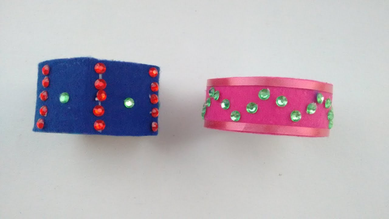 Handmade Jewellery How To Make Beautiful Bracelet At Home With Waste Material