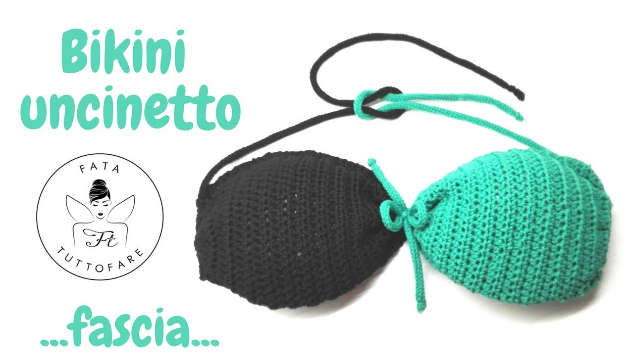 Tutorial Bikini Uncinetto Fascia Uncinetto Con Coppettela