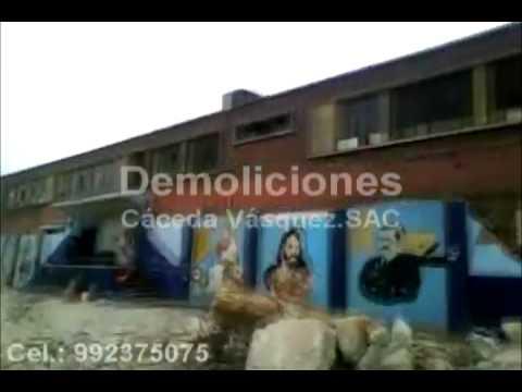 """Demolición G.U.E. Felipe Santiago Salaverry - """"Demoliciones Cáceda Vásquez S.A.C."""""""