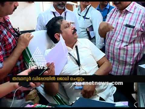 KSRTC MD Tomin thachankary as station master in Thampanoor