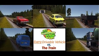 My Summer Car: Every drivable vehicle in the game vs. the train