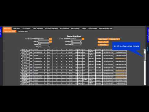How to see Historical Equity Market, Mutual Fund and Futures & Options Order Reports - Axis Direct