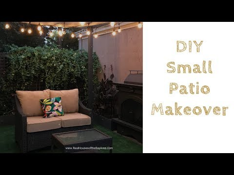 DIY SMALL PATIO MAKEOVER (BEFORE AND AFTER TOUR)