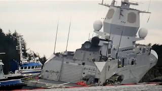 !*!ANOTHER NAVY SHIP HAS BEEN HIT(!)OIL TANKER RIPS GIANT GASH IN FRIGATE(!)