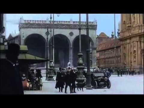 c1910  BerlinMunich, Germany in Color speed corrected w music