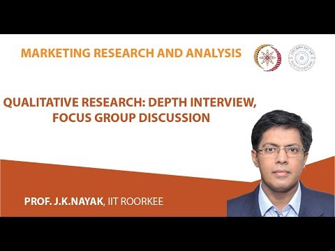 Lecture 06- Qualitative  Research:  Depth  Interview,  Focus Group  Discussion