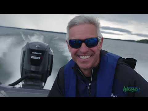Chip Leer from Fishing the Wildside takes an Evinrude Test Ride