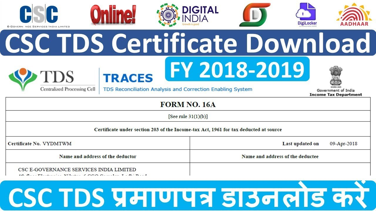 Csc Certificate Download 2018