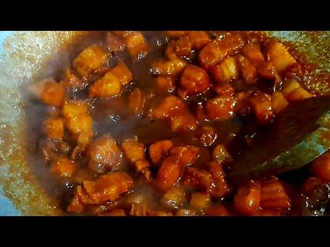 Resep Babi Kecap Chinese Food Enak Caramelized Pork Belly Nael Onion Youtube