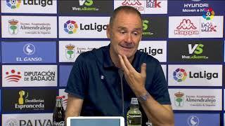 Rueda de prensa de Víctor Fernández tras el Extremadura UD vs Real Zaragoza (0-3)