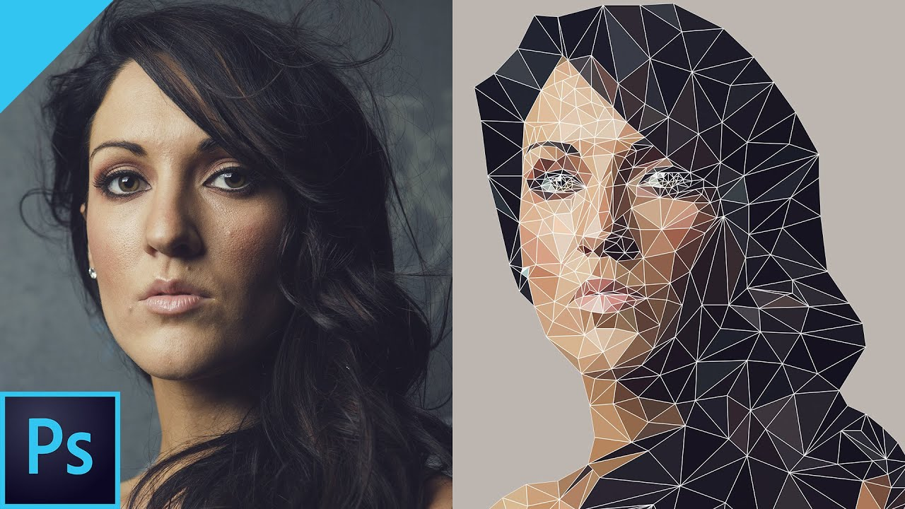 Drawing Lines In Photo Cc : Best create vector low poly effect with photoshop cc