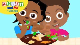 I Love Veggies! | Kids Health with Akili and Me | African Educational Cartoons
