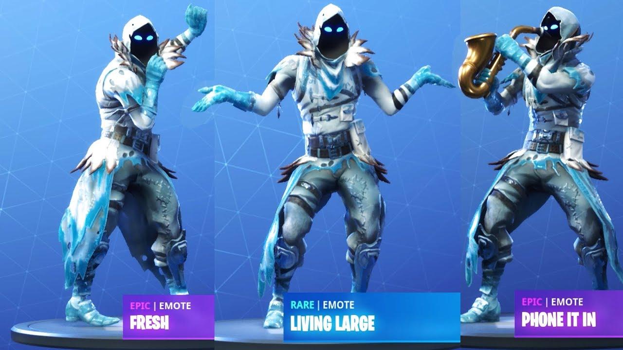 frozen raven showcase with all fortnite dances fortnite season 7 - frozen raven fortnite fanart