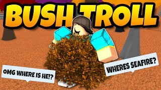 BUSH DISGUISE TROLLING | Roblox Super Power Training Simulator