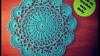 Video How to crochet easy doily download MP3, 3GP, MP4, WEBM, AVI, FLV Juli 2018