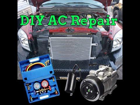 DIY AC Repair Dodge Ram 2500 Compressor Condenser Flush EVAC Charge