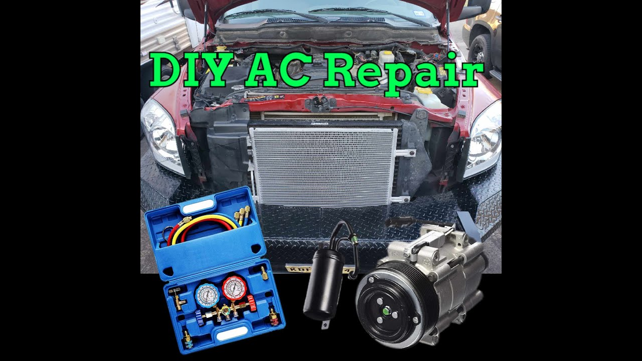 Diy Ac Repair Compressor Condenser Flush Evac Charge You