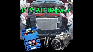 DIY AC Repair Compressor Condenser Flush EVAC Charge