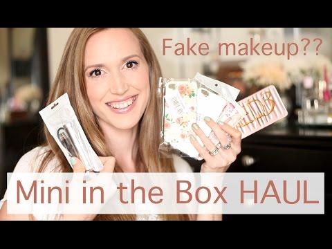 Mini In The Box Online HAUL + Fake Makeup??