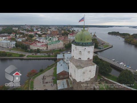 Аэросъемка города Выборг (Выборгский замок)