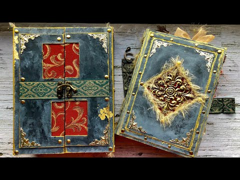 -Sold- Medieval Melody Junk Journal with matching box case | DTP | flip through