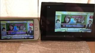 1 seg. (Japanese digital TV broadcasting system for small device) VS KeyHoleTV