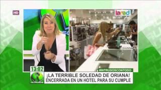 Oriana es vista comprando en un mall de Santiago