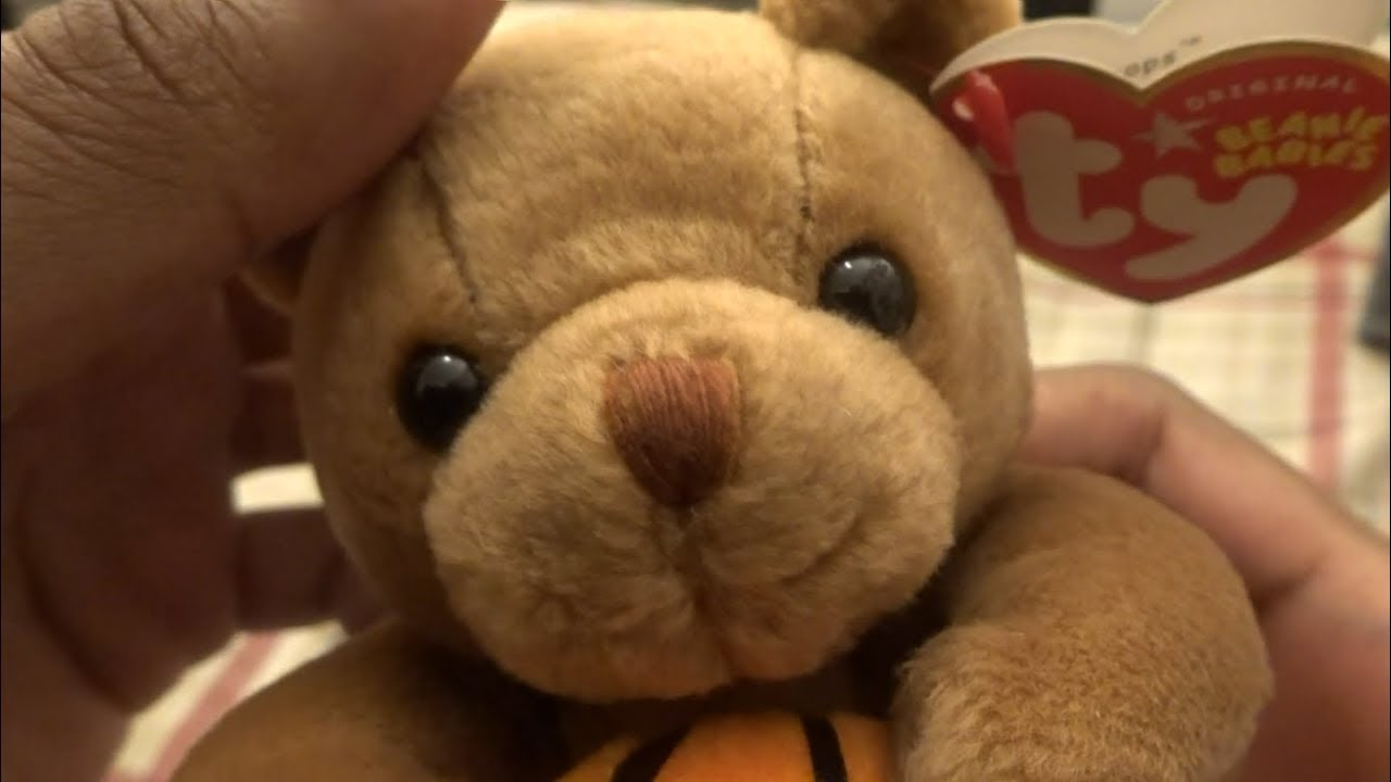ddcc10af2cd Ty Hoops - Basketball Bear Beanie Baby - YouTube