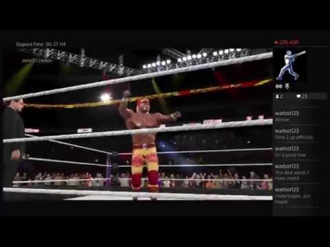 WWE 2K15: Ultimate Warrior and Sting vs Hulk Hogan and Ric ...
