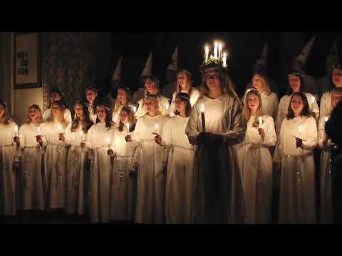 Saint Lucia Sankta Lucia Sainte Lucie Santa Lucia choral procession in Paris