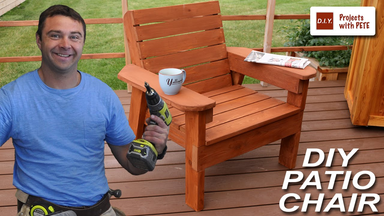 how to build a patio chair - diy outdoor chair build - youtube