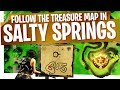 Follow the Treasure Map found in Salty Springs EASY & FAST - Season 4 Week 3 Fortnite Treasure Map