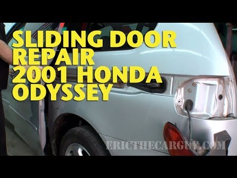 Sliding Door Repair 2001 Honda Odyssey Ericthecarguy Youtube