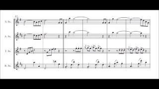 Blue Tango For Saxophone Quartet