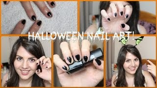 Halloween Nail Art | Black Cat Claws!