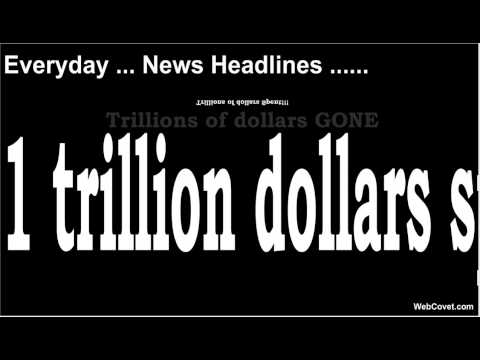 One Trillion Dollars Really? What it looks like