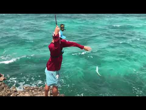 Reef Fishing On Caribbean Cliffs For Snapper