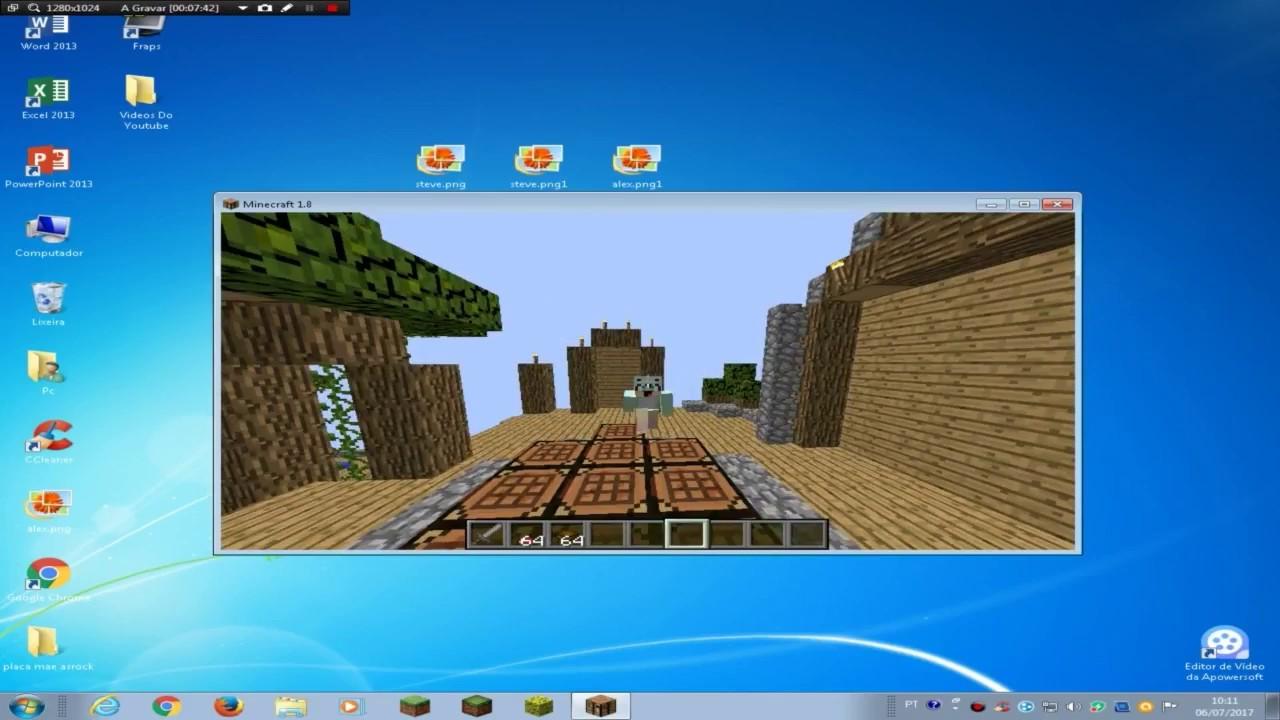 Como Colocar Skins No Minecraft Pirata YouTube - Skin para minecraft 1 8 8 pirata