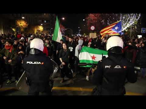 Manifestacion antifascistas en Granada