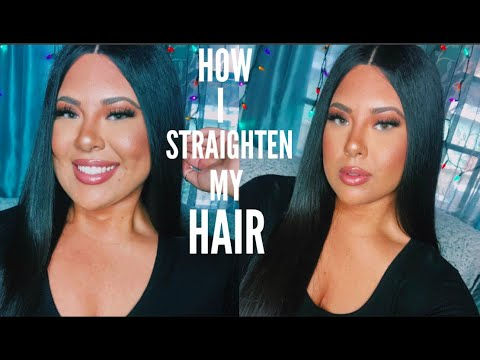 HOW I GET SLEEK STRAIGHT HAIR | HOW I STRAIGHTEN MY HAIR | duvolle