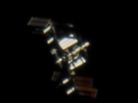 ISS through telescope - YouTube
