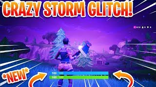 NEW INSANE STORM GLITCH ON FORTNITE! (YOU TAKE NO DAMAGE)
