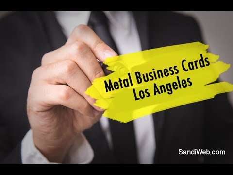 Metal business cards los angeles youtube colourmoves